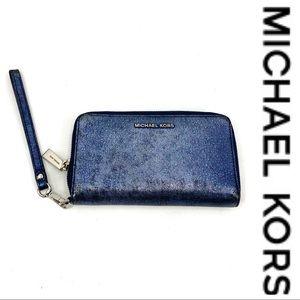 💕SALE💕 Michael Kors Blue Wristlet